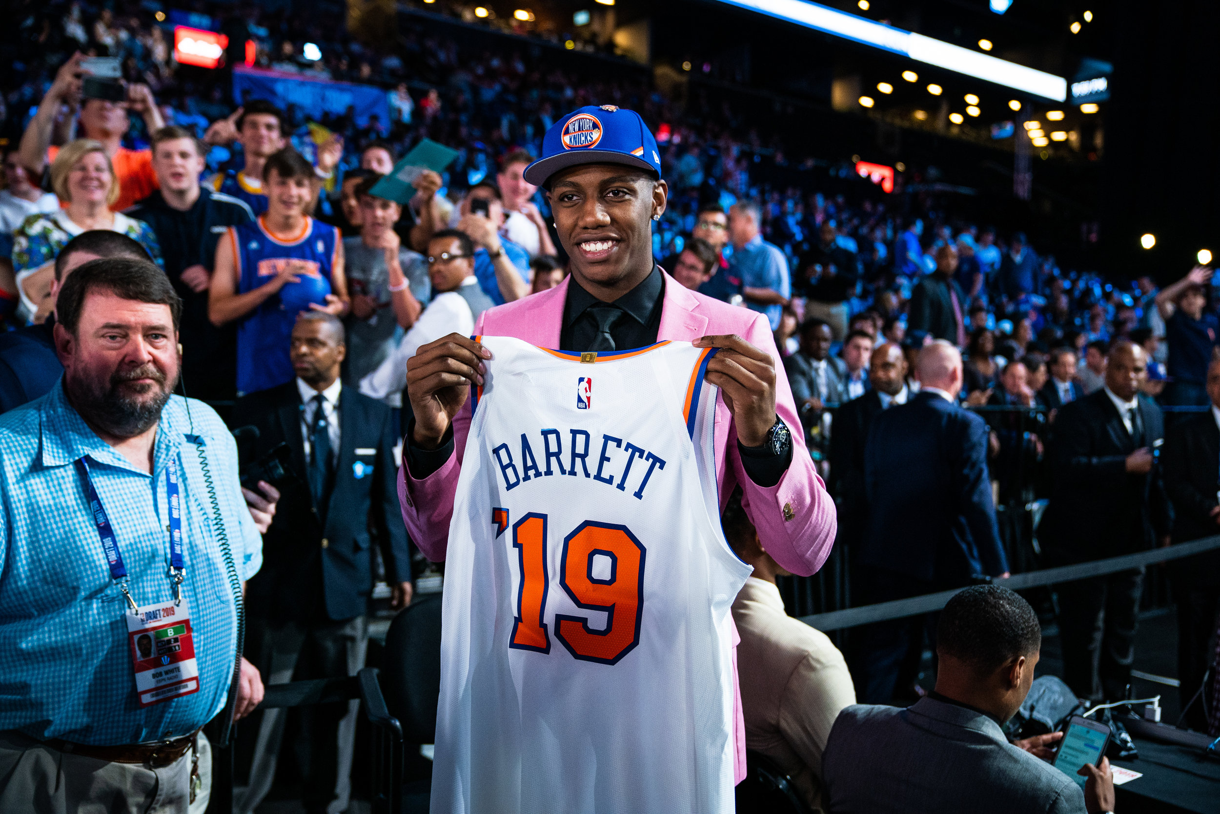 RJ Barrett and Ignas Brazdeikis spend a day in New York City after being drafted by the New York Knicks in the 2019 NBA Draft in Brooklyn NY. Barrett was selected 3rd overall and Brazdeikis was picked 47th overall in the second round. 