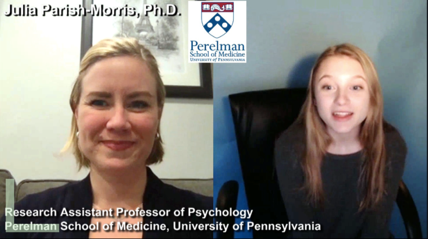 """BE INSPIRED"" by Researcher & Professor of Psychology Julia Parish-Morris, Ph.D."