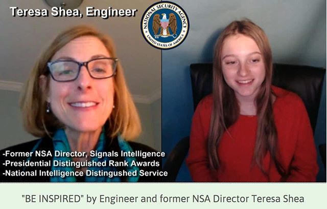 "Check out my interviews with impressive women in STEM found on my web site under the ""Be Inspired"" video series. Amazing insights and inspiration from women like former NSA Director Teresa Shea. #smart-women #womeninstem #womenintechnology #girlsincomputerscience"