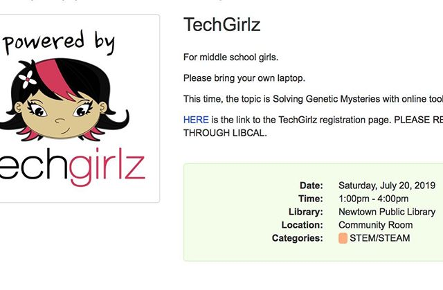 Looking forward to helping teach Solving Genetic Mysteries for TechGirlz tomorrow! #techGirlz #girlzinstem