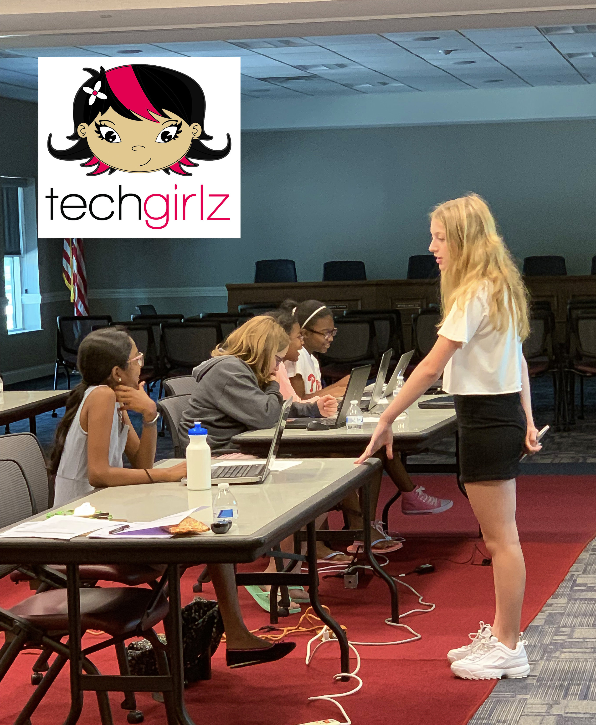 TechGirlz.org at The Newtown Public Library, July 20, 2019