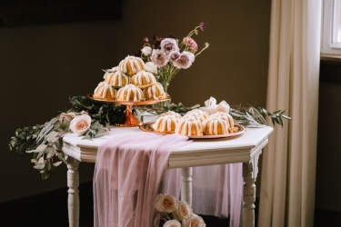 Cake by Nothing Bundt Cakes  Florals by Mokara Floral Design Furnature by Collective Charm Venue Mill Street Studio