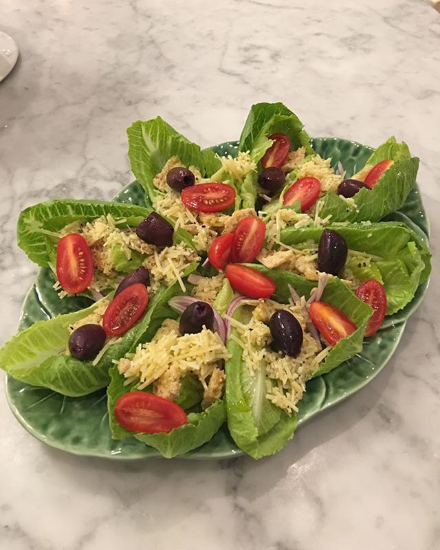 Cheese lovers whole leaf Romaine Caesar Salad....yum!
