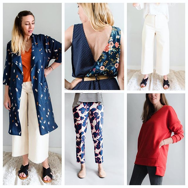 The Surtout Coat and all the other patterns in the shop are 20% off this week. Pictured here are the new #surtoutcoat , the #orchidxparasol dress combo, the cool #parasoltrousers , the beloved #robinsontrousers and the comfy #sundayeverydaysweater . Not pictured is the popular #perkinsshirtdress 💕 I only have sales twice a year, so take advantage! Wishing everyone an amazing Sunday. [code SURTOUTCOAT] #sewensemble #sew #sewing#sewingcommunity #handmadeclothing #sewyourown #handmadewardrobe #sewmystyle#pdfsewingpatterns #sewingpatterns#indiesewingpatterns#sewsewsew #sewcialist#sewersgonnasew#sewinglovers #sewingaddict
