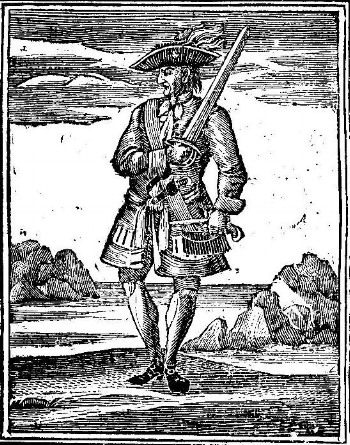 Illustration from the 1724 edition of  A General History of the Pyrates