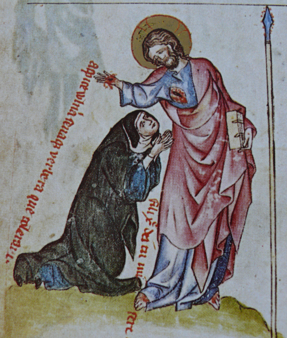 Illumination from the Passional of Abbess kunigunde of bohemia.