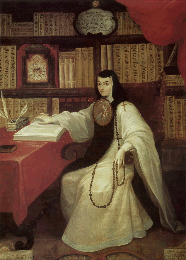 Portrait of Sor Juana by Miguel Cabrera, c. 1750.