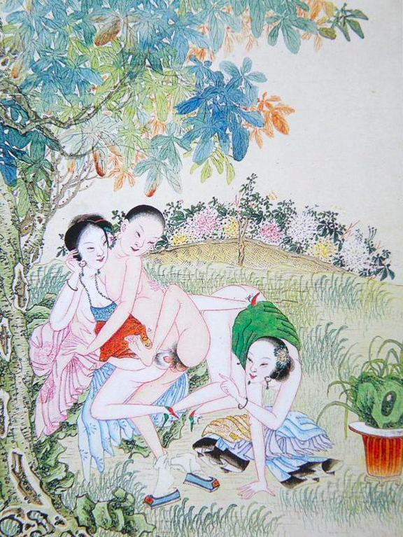 man with two women.