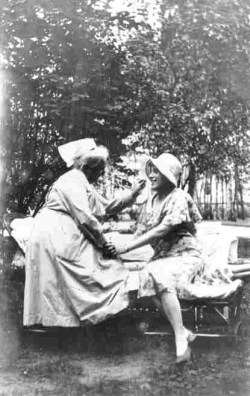 lili elbe and her nurse, after lili's successful srs surgery at hirschfeld's institute of sex