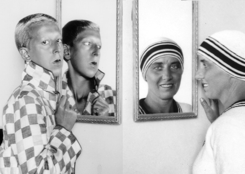 Self portraits - Claude Cahun and Marcel Moore, left to right respectively.