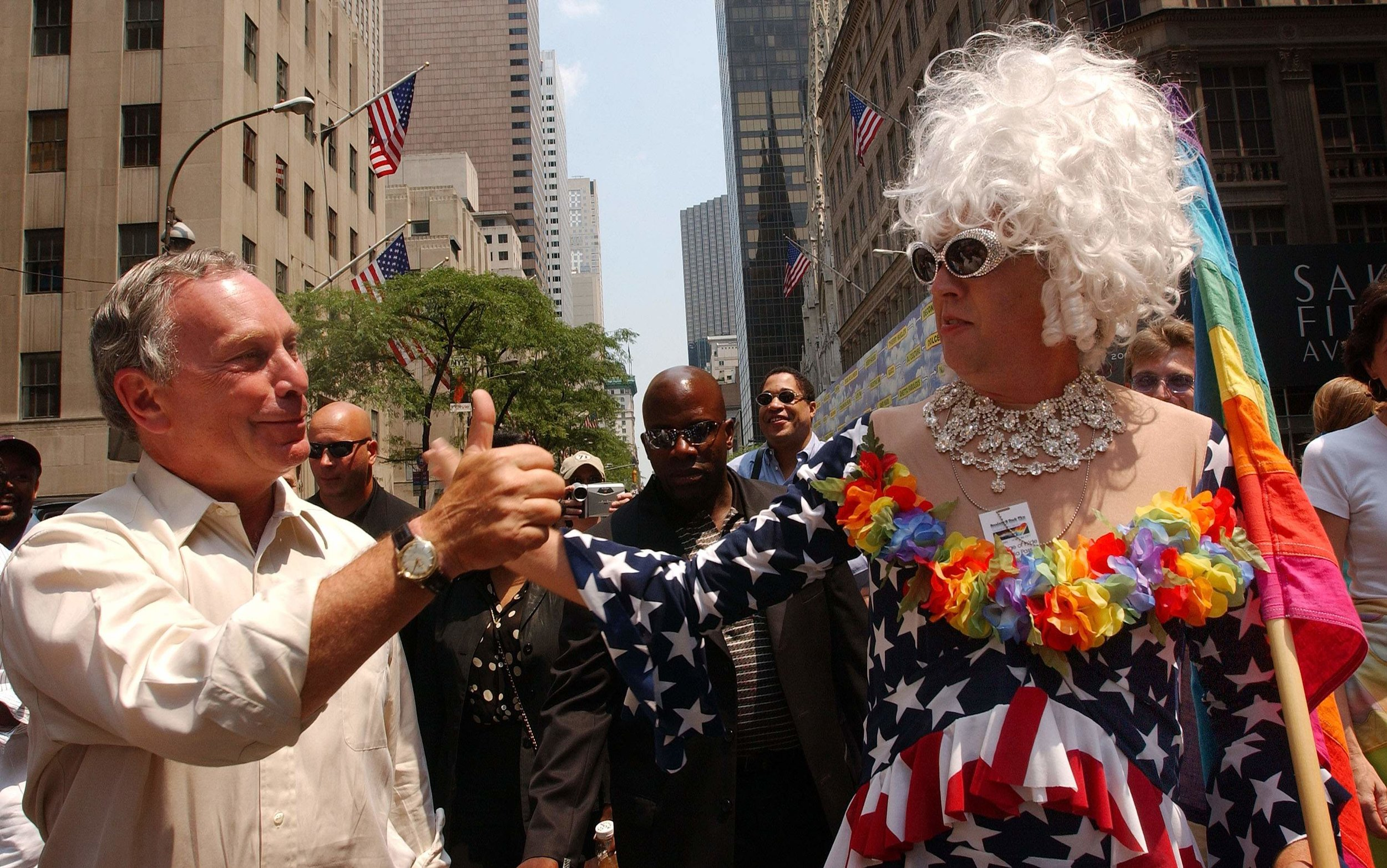 Gilbert Baker dressed as his drag persona, Busty Ross (© Getty Images)
