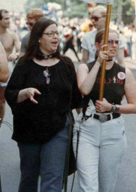 Brenda at NYC Pride marche late 1970s/early 1980s.