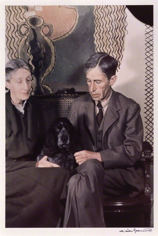 Virginia and Leonard, Photographed by Gisèle Freund, 1939.