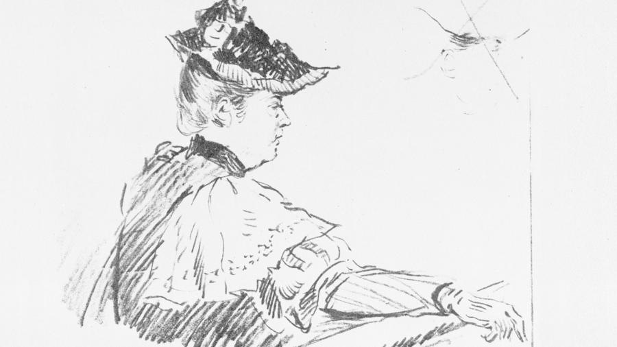 Sketch Illustration of Lizzie from the trail.