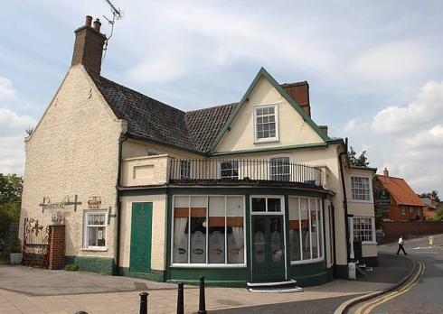 GEorge's Hotel, East Dereham. Site of the Unzipping Ghost. ( Source )