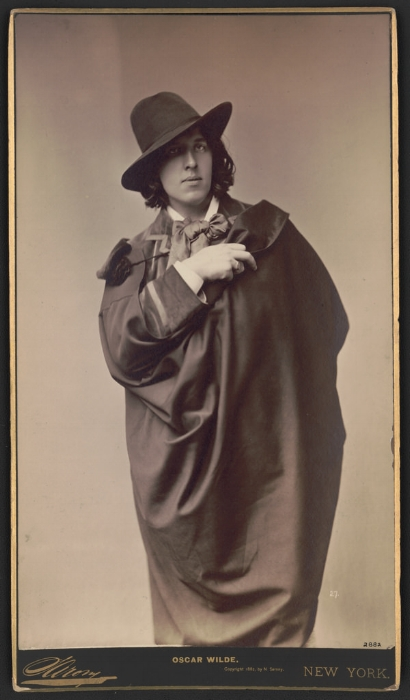 One of a series of portraits done of Oscar Wilde by Napoleon Sarony in 1882.