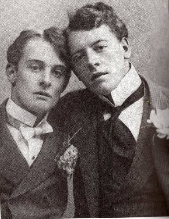 Bosie Douglas with his brother Frederick Douglas.