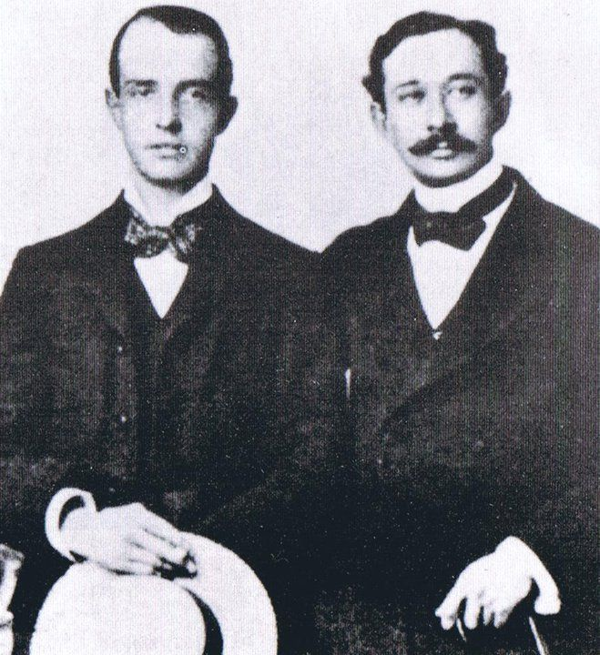 Robbie Ross (Left) and Reginald Turner (Right), circa 1893.