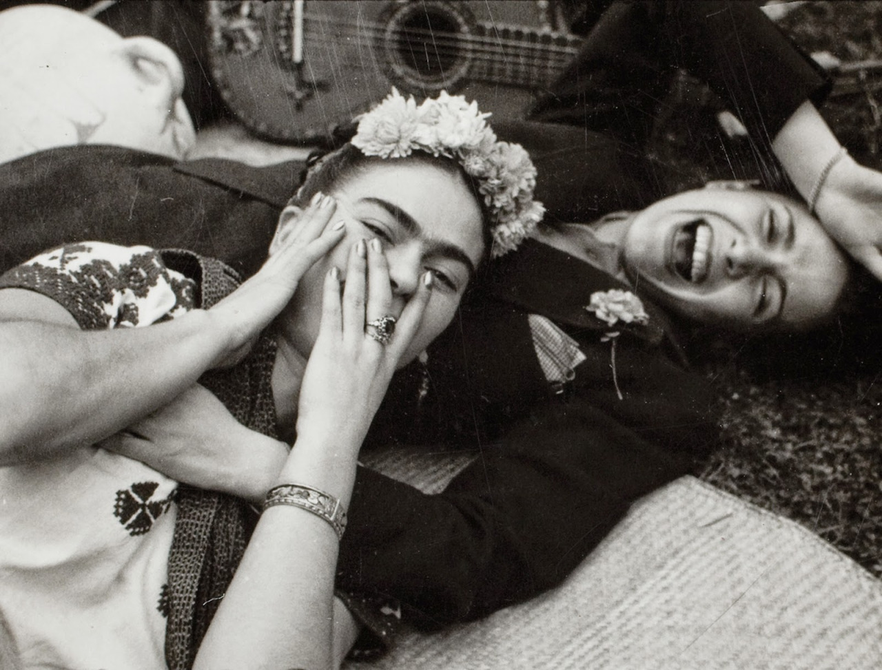 Kahlo and Chavela Vargas by Tina Modotti, 1950.