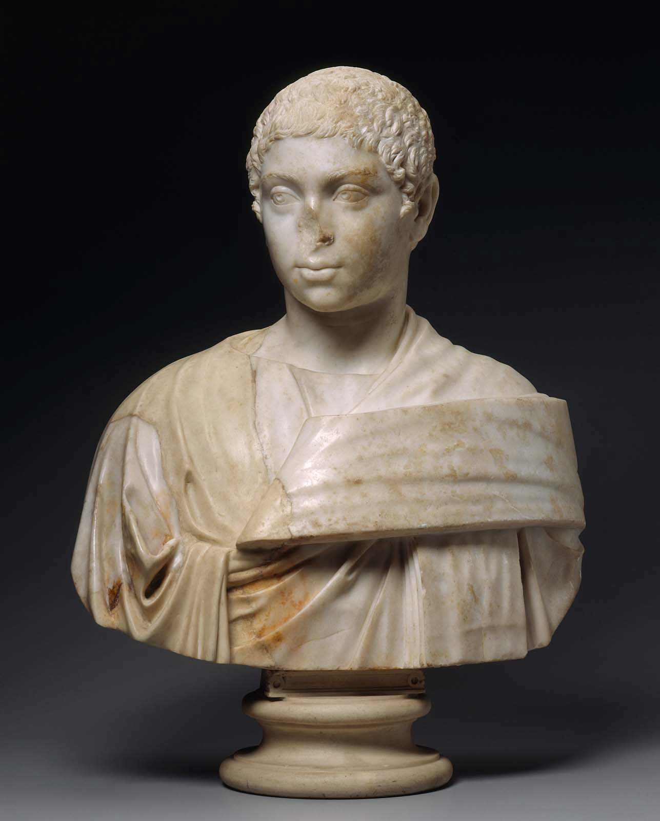 Portrait of young elagabalus.