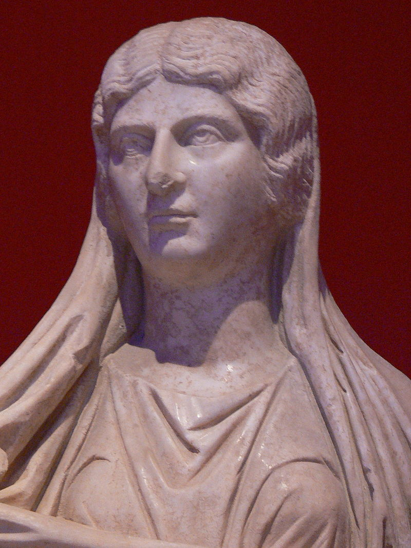 Sculpture of Julia Soaemias (Elagabalus' Mother).