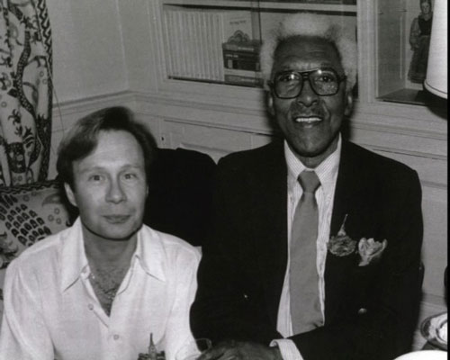 Bayard Rustin with walter Neagle, his partner from 1977 to Rustin's death in 1987.