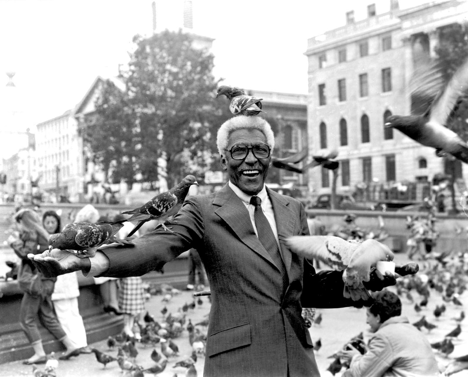 rustin at Trafalgar's Square, 1983.