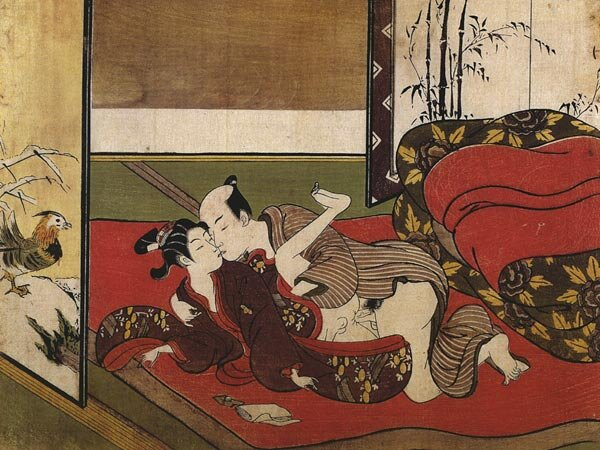 "Suzuki Harunobu, from ""Shunga"", A series of 24 erotic prints. Mid- 18th century, c. 1750."