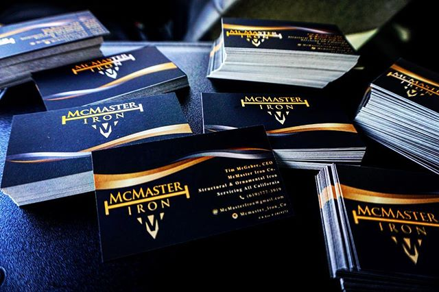 If you aren't running out of cards your doing something wrong!  Huge shoutout to @highdesignsllc for the outstanding product and service! They are your one stop shop for all your marketing/advertising needs!! #mcmasterironco#licensed#bonded#insured#lovewhatyoudo #entrepeneur #quality #iron #lovemylife#hustle #sales#outworkthecompetition #dreamcometrue#goals#contractor #welding#millerwelders #ornamenta#structural#fabrication #fabricator#welder#companyprofile #makita#lincoln#ironworker#highrise#100to0#10x