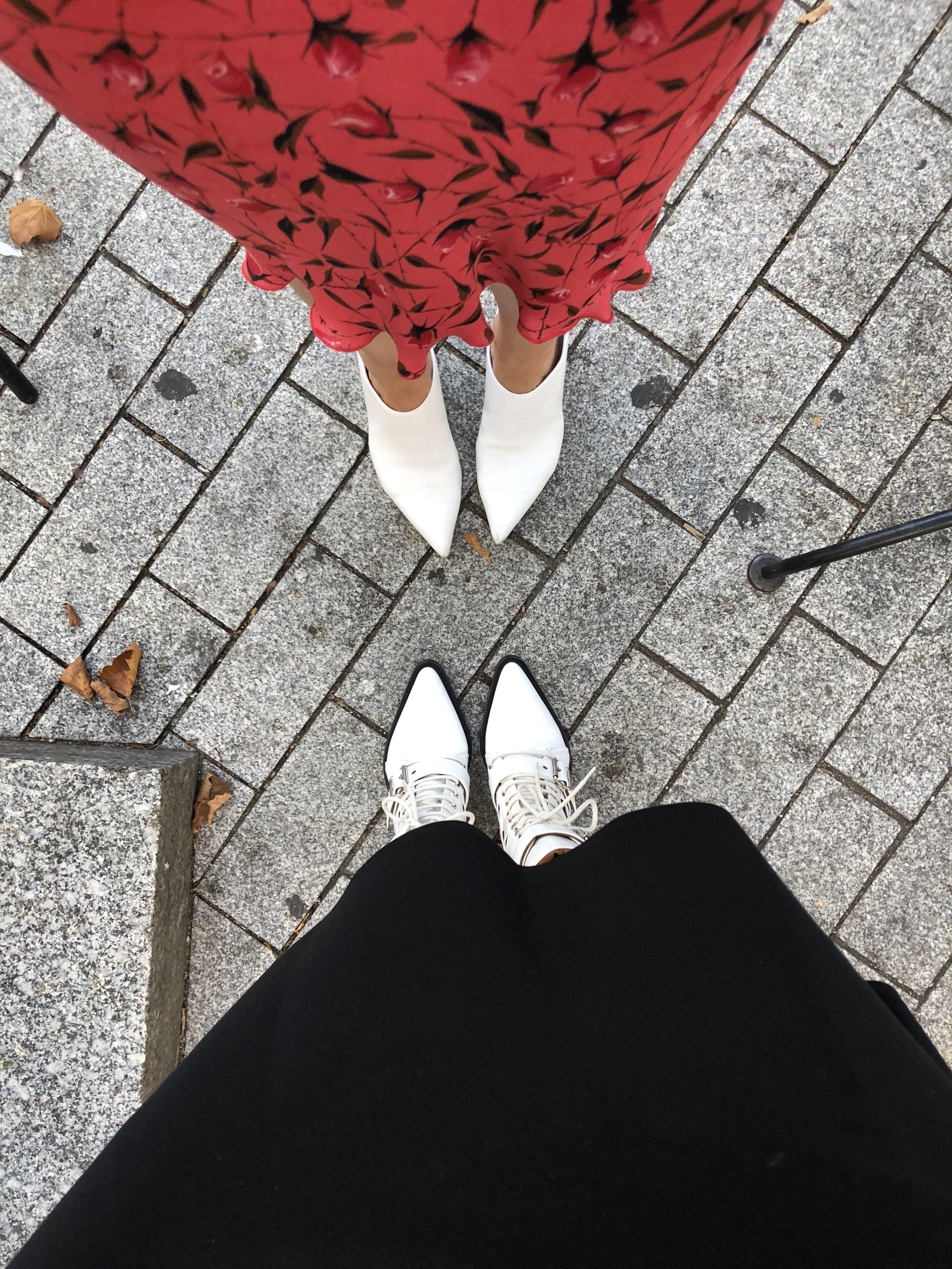 Stuart Weitzman mules, Chloe boots
