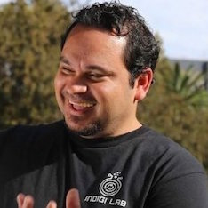AUSTRALIA: Luke Briscoe, Founder, Indigi Lab, representing 80,000 years of indigenous technology.