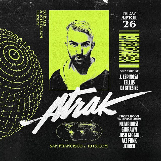 In a few weeks I'll be playing a live set in the front room at @1015sf supporting @atrak's show. If you haven't seen him live yet you're missing out! I watched him demonstrate his skills at @thenammshow in January. Much love to @space2950!