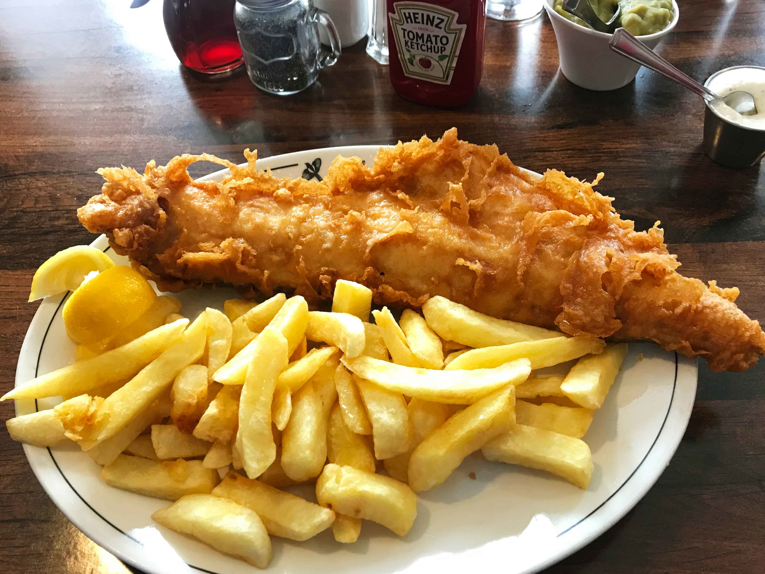 Haddock & chips, 100% delicious