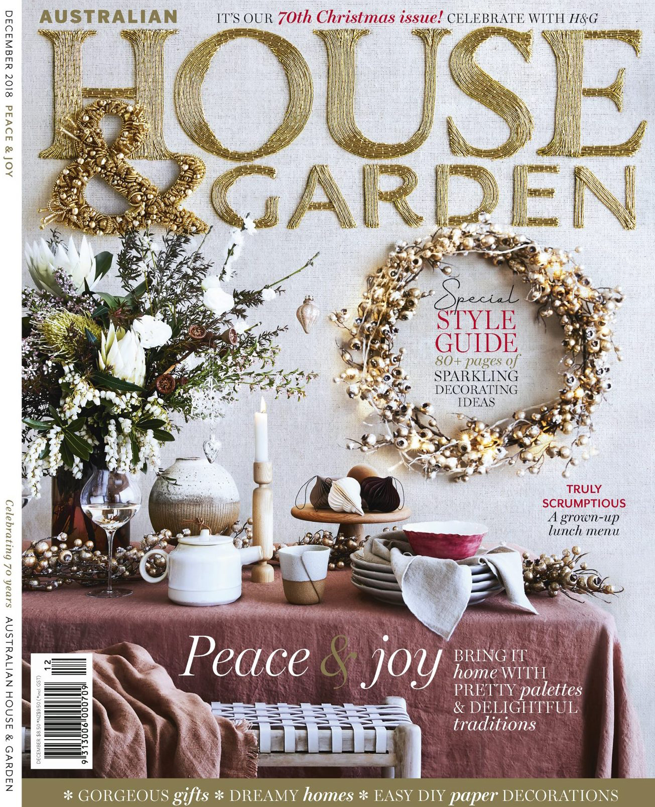 As seen in the Australian House & Garden magazine 70th Christmas edition