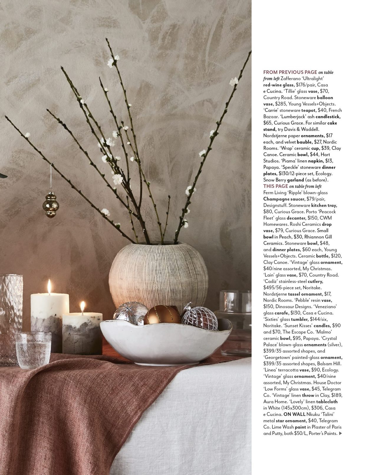 Styling by House & Garden featuring our Down To Earth beauty