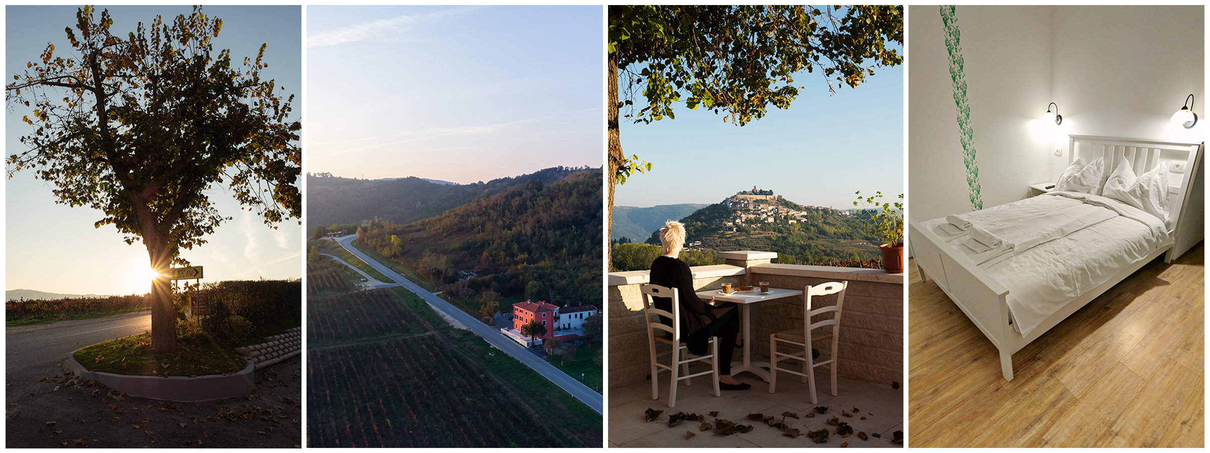 Casa Rossa , aka the Pink house sits just outside the main town and has a beautiful view of it!