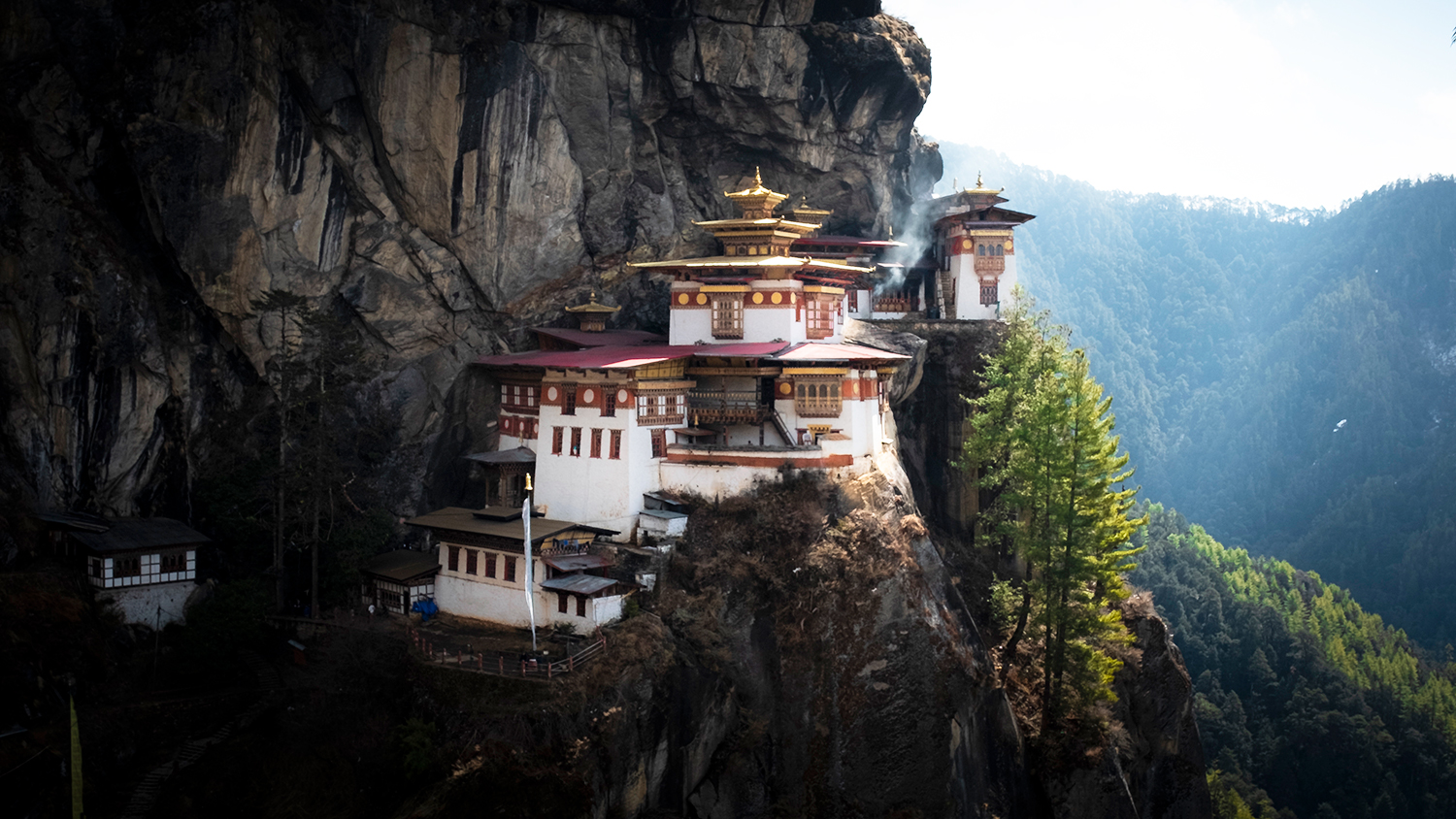 Arguably the most famous spot in Bhutan, Taktsang Monastery (Tiger's nest), Paro
