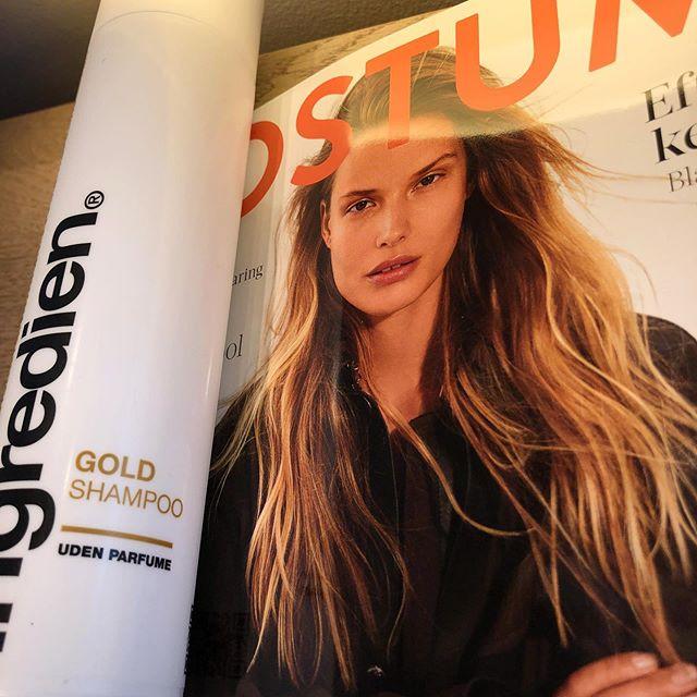 #goldshampoo 🧡 #ingredien #copenhagen #østerbro #frisør #glow