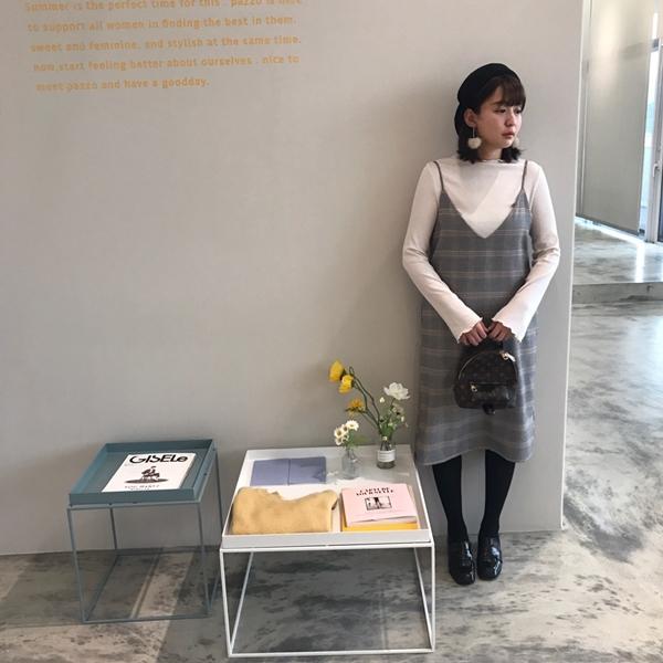 PAZZO復古兩件式洋裝-韓國斜紋畫家帽.jpg