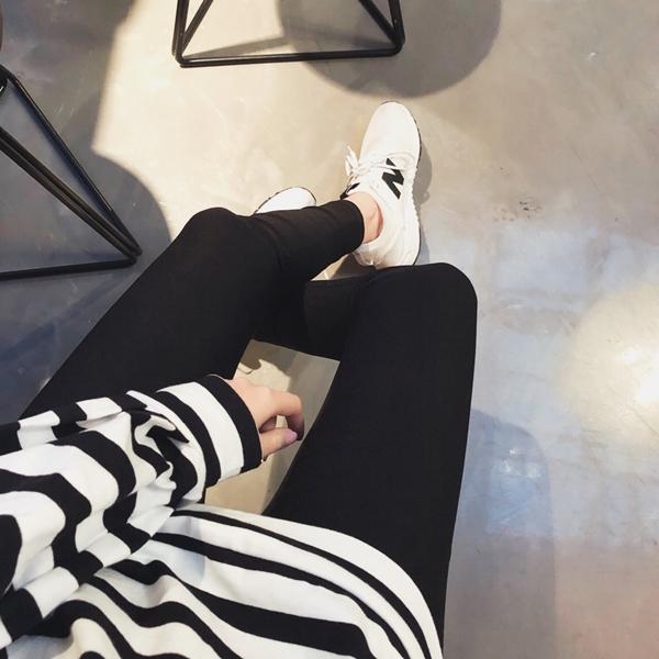 PAZZO-MIT-BK102經典顯瘦貼身九分黑褲