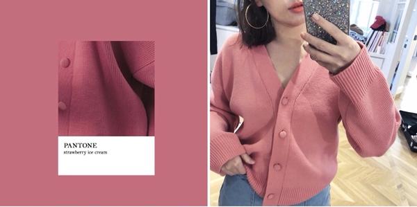 PAZZO慵懶女孩包釦針織外套