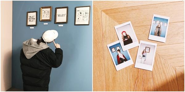 應該是國際巨星的製作人江江正在尋找靈感的模樣吧 (江江穿: 冬日連帽拼接保暖舖棉外套 )