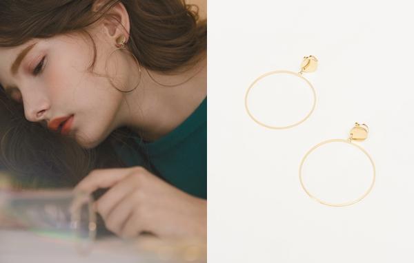 NO,024美式圈圈夾式耳環
