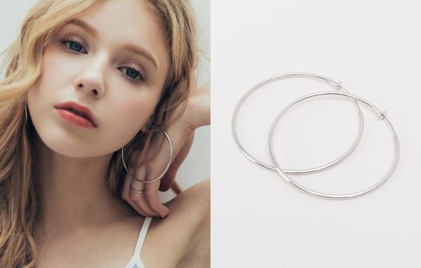 NO,007個性大圈圈夾式耳環