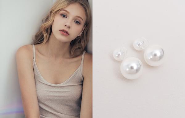 NO,006 小清新珍珠夾式耳環