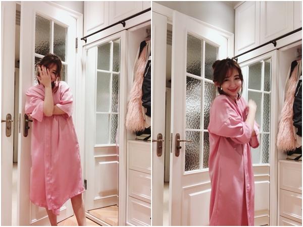 1_PAZZO_法式慵懶寬袖長版睡袍_甜蜜少女格紋緞帶家居長褲.jpg