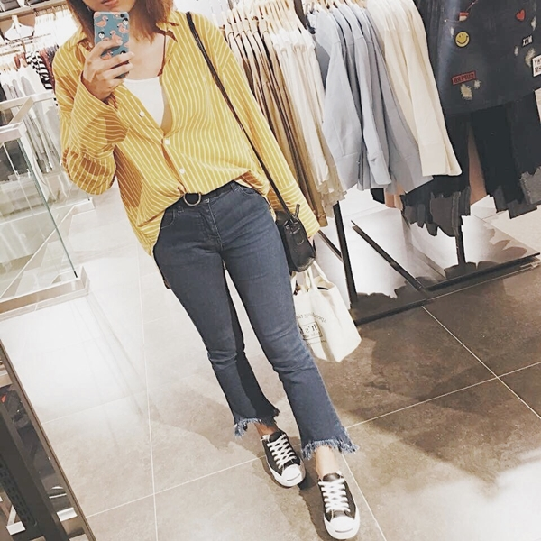 真的完全PAZZO鐵粉💕 不知曾幾何時每天都PAZZO😄好喜歡你們的品牌也好喜歡你們PAZZO女孩們😊 會繼續喜歡你們的💗 (襯衫+褲 是PAZZO❣ _Yumin Cai