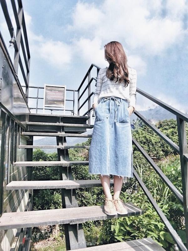 每個禮拜都很期待PAZZO新品~~ 週週鎖定直播可以看見更詳細的穿搭介紹覺得很滿意~~~💖#PAZZO牛仔裙 _Penny Chen