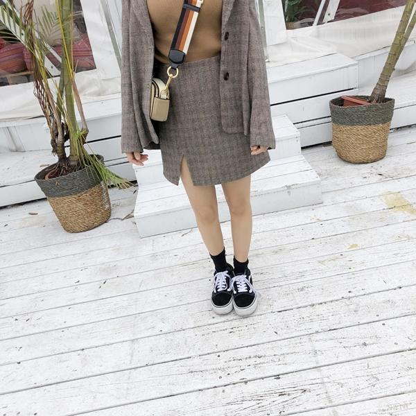 千鳥紋西外開岔短裙套裝+針織小高領七分袖上衣 (6).jpg