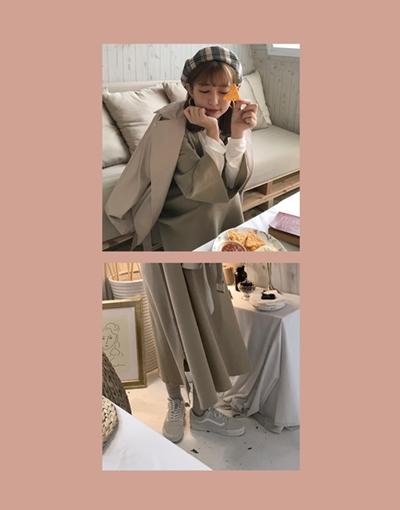 浪漫透膚壓褶點點上衣  +  慵懶甜美針織V領洋裝  +  必備個性風皮衣外套